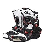 Sooiy Botas de protección Zapatos de la Motocicleta Road Ra