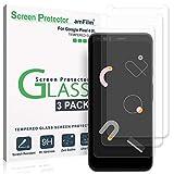 amFilm Pixel 4 XL Protector de Pantalla (3 Piezas), Anti-Burbujas (Instalación Fácil) Cristal Vidrio Templado Protector Pantalla para Google Pixel 4 XL (2019)