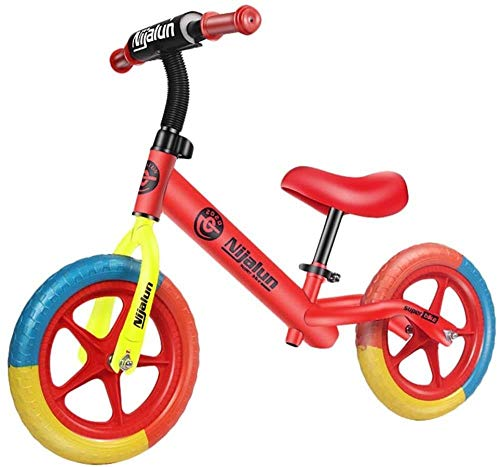 Mountain bike Children's Balance Bike Without Pedal Bicycle Baby Scooter 1-3-6 Years Old Child Sliding Walker Yo Car Free Inflatable Wheel ZHAOSHUNLI (Color : Red)
