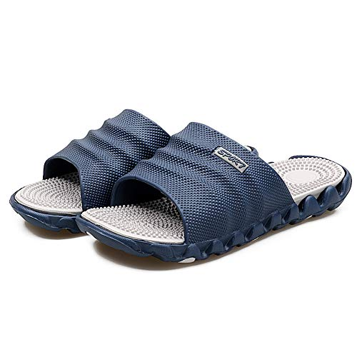 Zapatillas de masaje de acupresión - Acupoint Terapia magnética Cuidado de pies sanos Masajeador Imán Zapatos de playa suaves para hombres Mujeres (44, Gris)