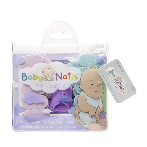 Baby Nails The Thumble I Lima de uñas para recien nacidos (0 meses +) Paquete grande mezclado I Cuidado de uñas bebé I Accesorio para recien nacidos y bebés