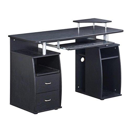 Techni Mobili Modern Office Desk and Complete Computer Workstation, Espresso