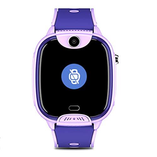 Kinder intelligente Uhren für Jungen Kinder intelligente Uhr Kinderkameras Telefon Smart Uhren WiFi Videotelefon wasserdichte Positionierung Multifunktionsuhr, geeignet für Kinder,Lila
