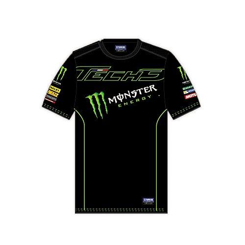 Monster Tech3 Custom 2 2017 T T Shirt Homme, NoirVert, FR : Adulte (Taille Fabricant : XXL)