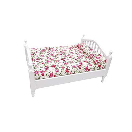 Romote Puppenhaus Miniatur-Bett 01.12 Puppenhaus Miniatur-möbel Aus Holz Bett Puppenhaus Wohnzimmer Zubehör
