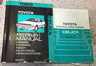1989 Toyota Celica Service Repair Shop Workshop Manual Set W Wiring Diagram EWD
