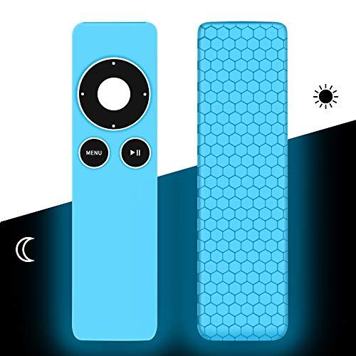 Hydream Funda para Mando de Apple TV 2ª / 3ª Generación [Peso Ligero Antideslizante] Carcasa de Silicona a Prueba de Golpes (Glow Blue)