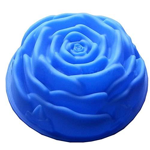 JUNGEN Moule en Silicone en Forme de Rose fleur DIY Mold 8 * 8 * 3.2cm 1PCS Couleurs aléatoires
