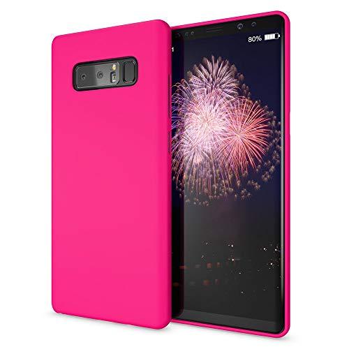 NALIA Cover Neon compatibile con Samsung Galaxy Note 8, Custodia Protezione Ultra-Slim Neon Case Protettiva Morbido Cellulare in Silicone Gel, Gomma Telefono Bumper Sottile, Colore:Pink