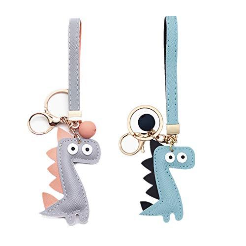 MUAMAX dinosaurus sleutelhangers voor vrouwen meisje vriendin, portemonnee tas bedel, sleutelhanger voor auto sleutels, cadeau voor haar
