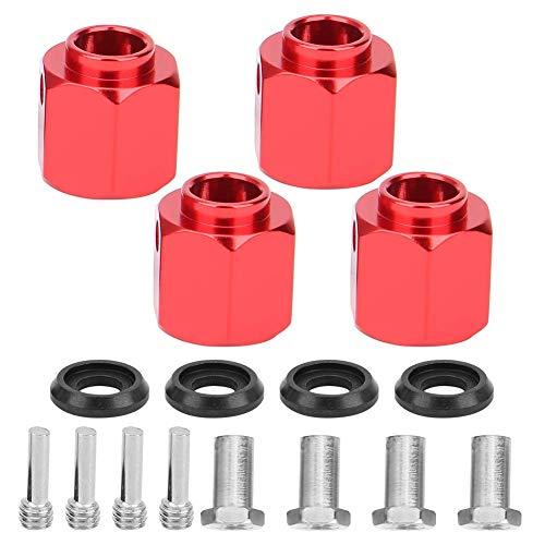 MUZILIZIYU 01 02 015 RC Adaptador de extensión, 4 Grupos Adaptador de concentrador de aleación de Aluminio RC, con Tornillos para RC RC Crawler (Color : Red)