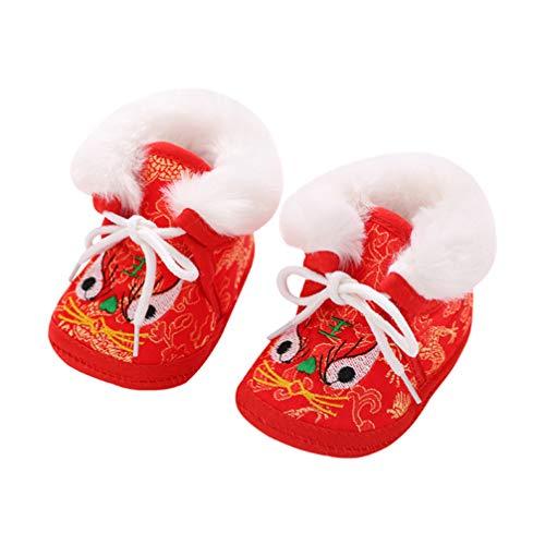 Happyyami Zapatos de Invierno Niños Calientes Zapatos de Cabeza de Tigre Chino...