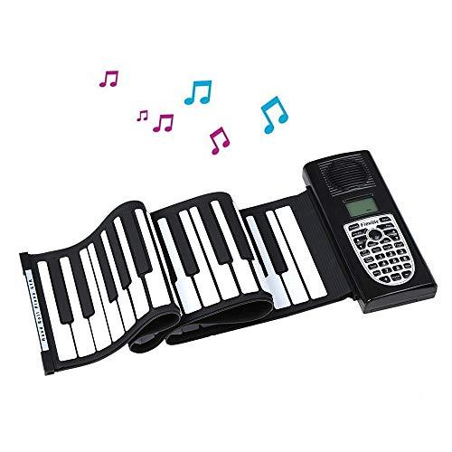 Buy Discount JJCFM Multifunction Hand Roll Piano, Portable 61 Keys Hand Roll Electronic Keyboard, Ch...