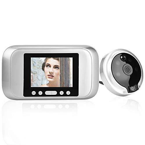 Mirilla Electrónica, Wireless Video Doorbell con Cámara de Vigilancia para Puerta, Pantalla LCD digital de 3,2 en 720P HD Timbre de Puerta para Seguridad en el Hogar