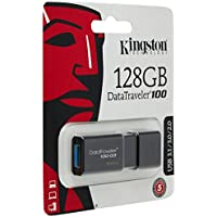 Kingston DataTraveler 100 G3 -DT100G3/128GB,  USB 3.0, 3.1 Flash Drive, 128 GB, Negro