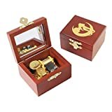 Youtang Wind up Music Box Sailor Moon Carved Wood Musical Box Gold Mechanism with Mirror for Christmas,Birthday,Valentine's Day