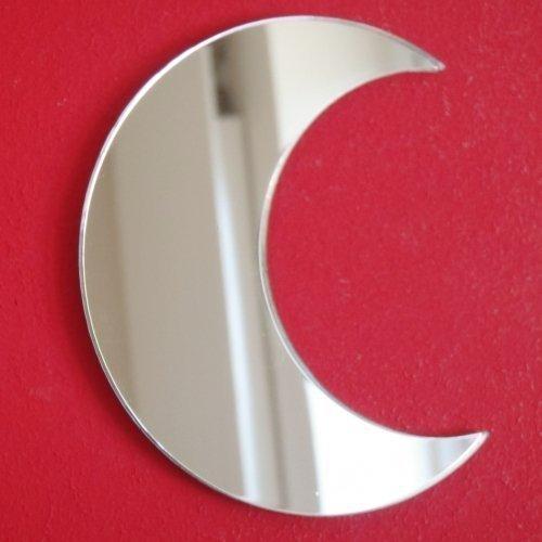 Super Cool Creations 5x Mond Spiegel–4cm x 2,5cm
