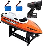 Heyesupio Remote Control Boat for Pools and Lakes for Kids High Speed Racing
