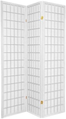 Popular popular Oriental Furniture 6 ft. Tall Window Pane Don't miss the campaign Shoji - Screen White