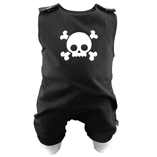 Eve Couture Babykleidung Baby Strampler Junge Skull Totenkopf Rockabilly Rock´n Roll Gothic schwarz (62/68)