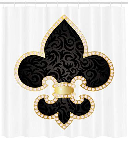 123456789 Lily Thron von Frankreich Empire Symbol der Ritter Kunst Bild Duschvorhang