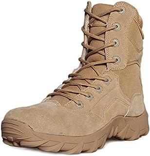 Botas de hombre con tipo para hombres Zapatos de combate Moda al aire libre Botas para caminar Desierto Entrenamiento especial Camuflaje
