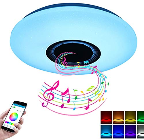 Moderna RGB LED Luces de Techo Inicio Iluminación 36W Aplicación Bluetooth Música Luz Luz Lámparas Lámparas de Techo Inteligente + Control Remoto