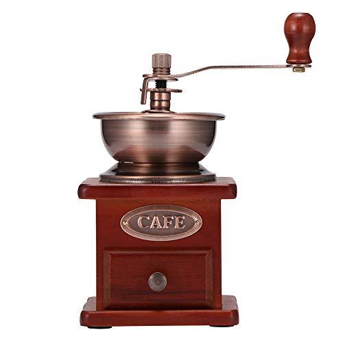 ONEVER Hand Koffiemolen Retro Houten Handmatige Koffiemachine voor Koffiebonen Noten Beste Gift
