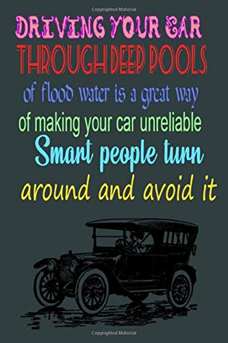 Driving your car through deep pools of flood water is a great way of making your car unreliable Smart people turn around and avoid it: Gratitude ... Walk Home From School, journal with lined