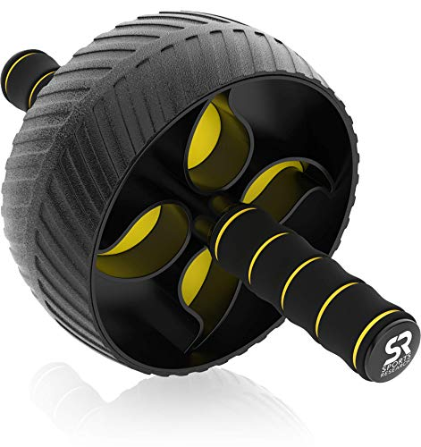 """Sports Research Ab Wheel Roller with Knee Pad 