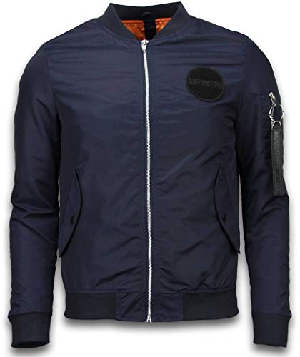 BomberJack Heren - Bomber Jas Rescue Air Force One - Blauw