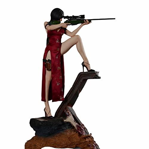 NC 1/4 Resident Evil Ada Wong Figuras De AccióN Coleccionables, Anime Modelo De Juguete, 54.8cm Materiales De ProteccióN Ambiental De Resina Estatua De Adornos DecoracióN De Escritorio