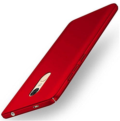 XMT Xiaomi Redmi Note 4X 5.5' Custodia,Ultra Sottile PC Back Case Protettiva Custodia per Xiaomi Redmi Note 4X Smartphone (Rosso)