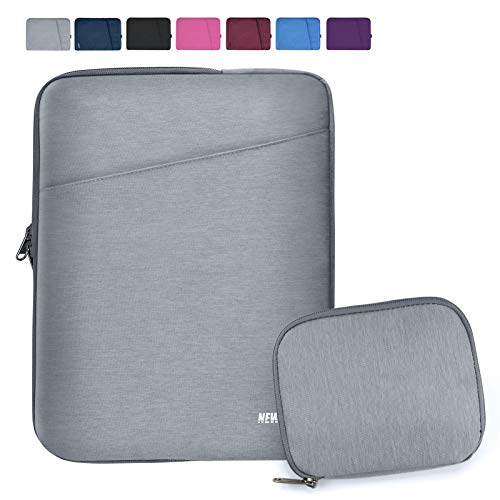 """NEWHEY Laptop Sleeve 13.3-14 Inch Computer Bag Multi-Color Choices Case, Water-Resistant Notebook Pocket Tablet Briefcase Carrying Bag with A Case,Compatible with 13""""MacBook Pro and MacBook Air,Gray"""
