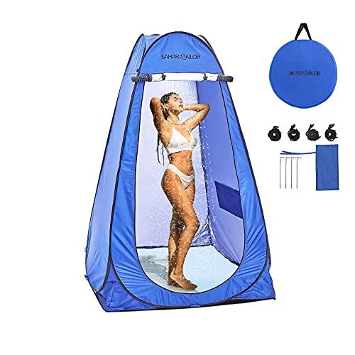 Sahara Sailor Pop Up Privacy Shower Tent, Portable Pod Changing Room, Outdoor Sun Shelter Camp Toilet Changing Dressing Room, Camp Toilet - with Carry Bag