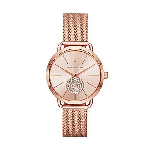Michael Kors damski analogowy zegarek kwarcowy bransoletka jeden rozmiar różowe złoto