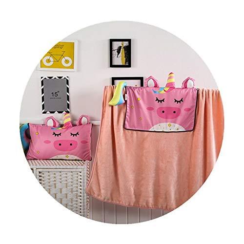 Manta de viaje y almohada Multifuncional de dibujos animados de doble propósito Almohada Manta Forma animal creativo infantil Almohada Premisoft 2 en 1 manta de avión ( Color : B , Size : 30x50cm )