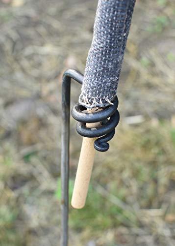 Battle-Merchant Fackelhalter, handgeschmiedet, aus Stahl, Mittelalter LARP Fackelständer Gartenfackel Wachsfackeln Fackeln Gartenfeuer Halterung