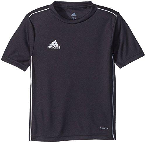 adidas Unisex-Child Juniors' Core 18 Training Soccer Jersey, Black/White, XX-Small