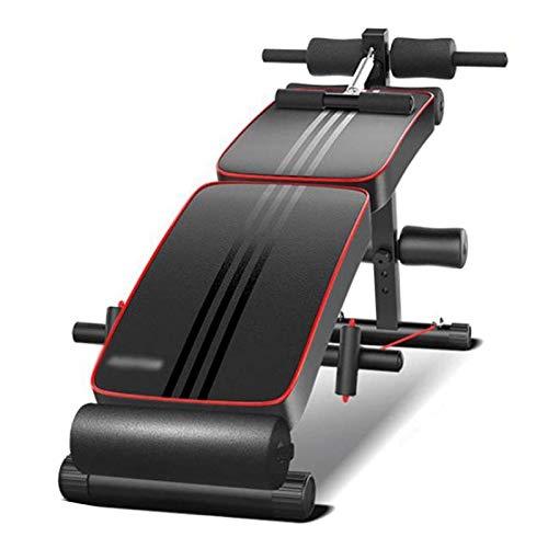 AWSERT Máquina de Entrenamiento en casa Inicio Plegable Placa supina Multifuncional Ejercicio Abdominal Ayuda Ejercicio Abdominal Muscle Trainer Fitness Equipment Entrenamiento de Gimnasio