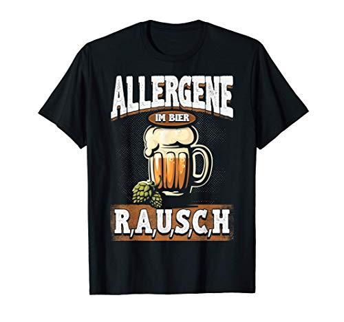Bierige Biertrinker - Allergene im Bier Design Bierliebhaber T-Shirt