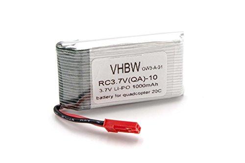 vhbw Batería de Li-Ion 1000mAh (3.7V) para cuadrópteros Modelo 20c