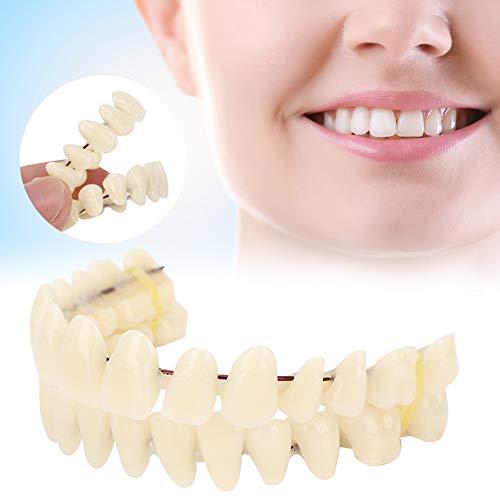280pcs/10 Set Resin Denture False Teeth, Dental Teeth Teaching Model, Resin Denture for Patients with Oral Cavity Loss,Dental Supply Accessory