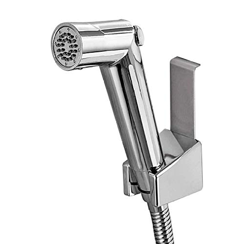 FACAIA El rociador portátil de bidé de Viaje se Conecta al Grifo Mezclador de Mano - Juego de Pistola rociadora para Inodoro Boquilla de arandela Inodoro Companion Fart Flusher