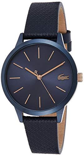 Lacoste Damen Analog Quartz Armbanduhr mit Lederarmband 2001091