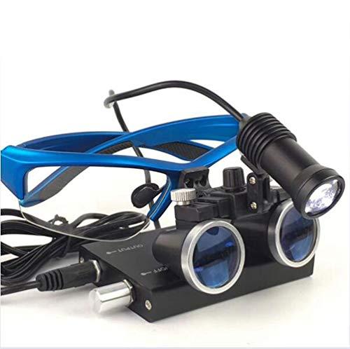Lupas Binoculares Quirúrgicas Dentales Profesionales Para Dentistas, Gafas De Ajuste Bidireccional Médicas, Anteojos De Lupa Binocular, Aumento 3.5x a/Blue