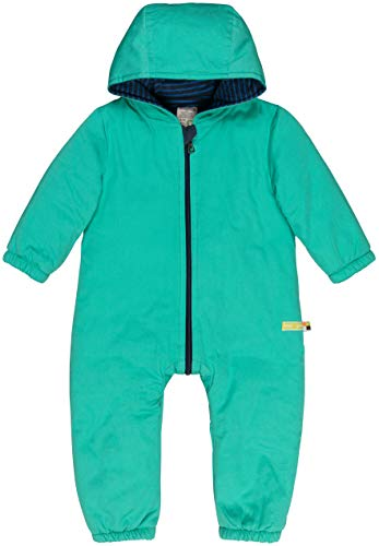 loud + proud Baby-Unisex Wasserabweisender, Wattierter Overall Aus Bio Baumwolle, GOTS Zertifiziert Schneeanzug, Grün (Jade Jad), 92 (Herstellergröße: 86/92)