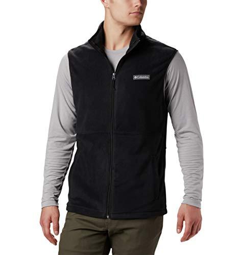 Columbia Men's Basin Trail Fleece Vest, Full Zip, Medium, Black