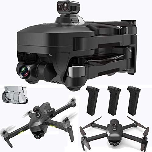 GZTYLQQ Drone cardanico a 3 Assi con EIS Anti-Shake 4k UHD Camera per Adulti 5GHz Live Video Rc Quadcopter Dual Camera Tre batterie Custodia per Il Trasporto