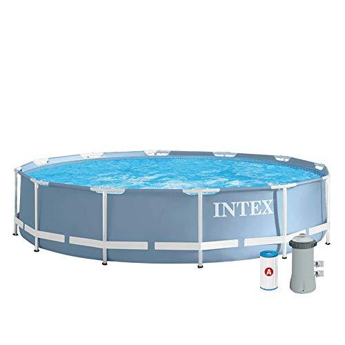 INTEX Kit piscine tubulaire ronde Prism Frame 3,66 x 0,76 m